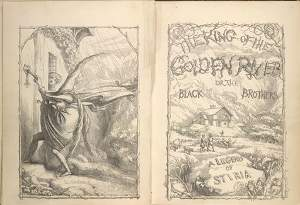 """The King of the Golden River"" di John Ruskin, 1851 - Immagine in pubblico dominio, fonte The British library"