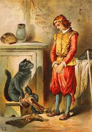 Il gatto con gli stivali, illustrazione ottocentesca di Carl Offterdinger