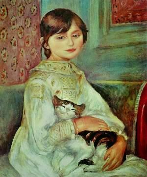 Bambina con gatto di Auguste Renoir
