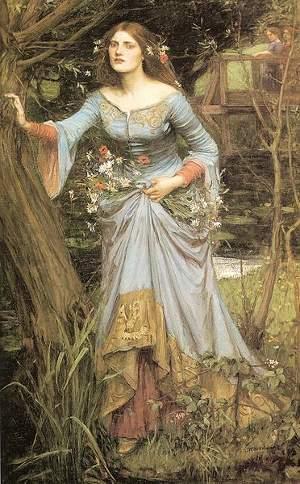 Ofelia di Waterhouse, fonte Wikimedia Commons, utente Fleance