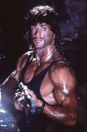 "Sylvester Stallone in ""Rambo"", immagine rilasciata sotto licenza  Creative Commons Attribution-Share Alike 3.0 Unported, fonte Wikimedia Commons, autore Yoni S.Hamenahem"