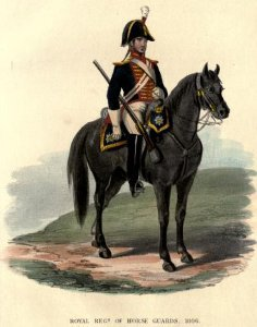 Royal Horse Guard britannica in divisa del 1806 - Immagine in pubblico dominio, fonte Wikipedia
