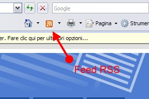Icona RSS su Internet Explorer 7
