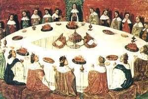 La Tavola Rotonda di Re Artù come trasposizione anglosassone della tavola dell'Ultima Cena realizzata da Giuseppe di Arimatea - Immagine in pubblico dominio, fonte Wikipedia